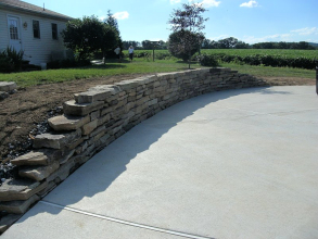 Natural Stone Wall Construction - Laury's Station, PA